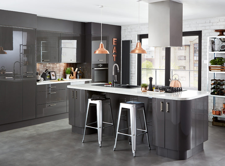 Kitchen Compare Helps You To Get The Best Deal For Your Kitchen - Dark grey gloss kitchen