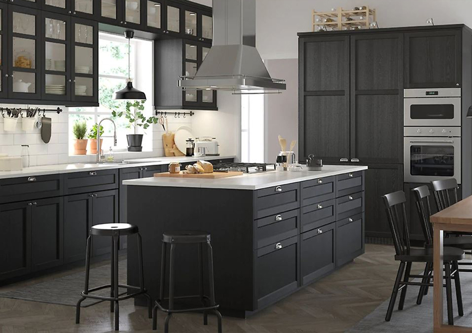 Dark Wood Shaker Galley