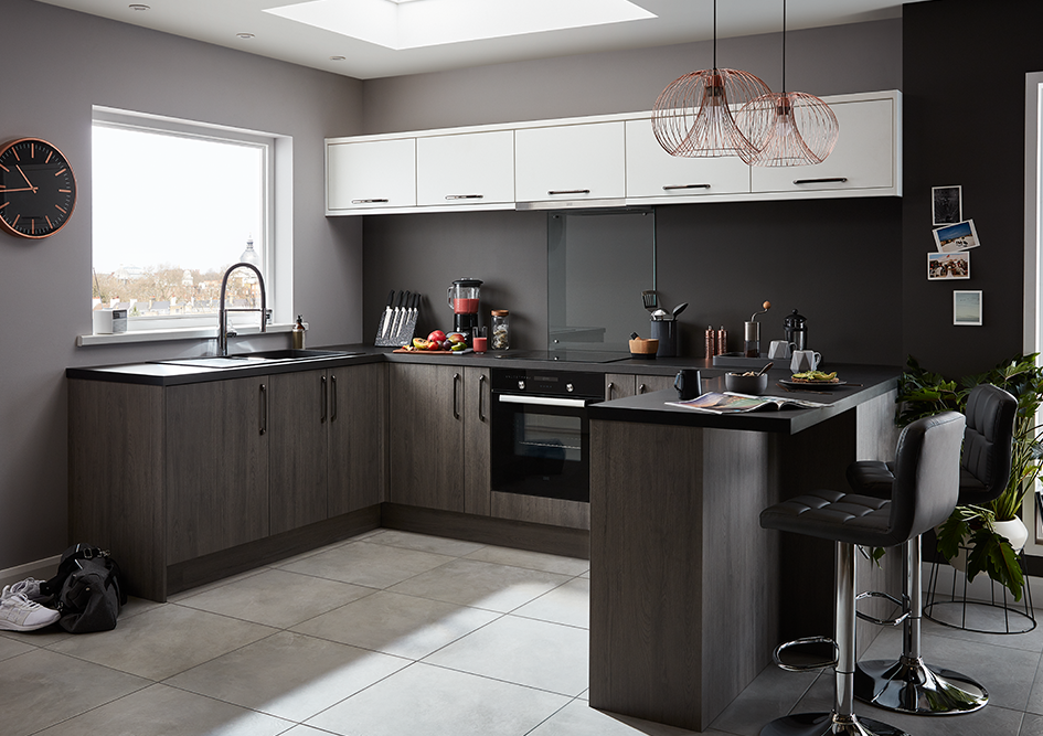Grey Wood Style Galley